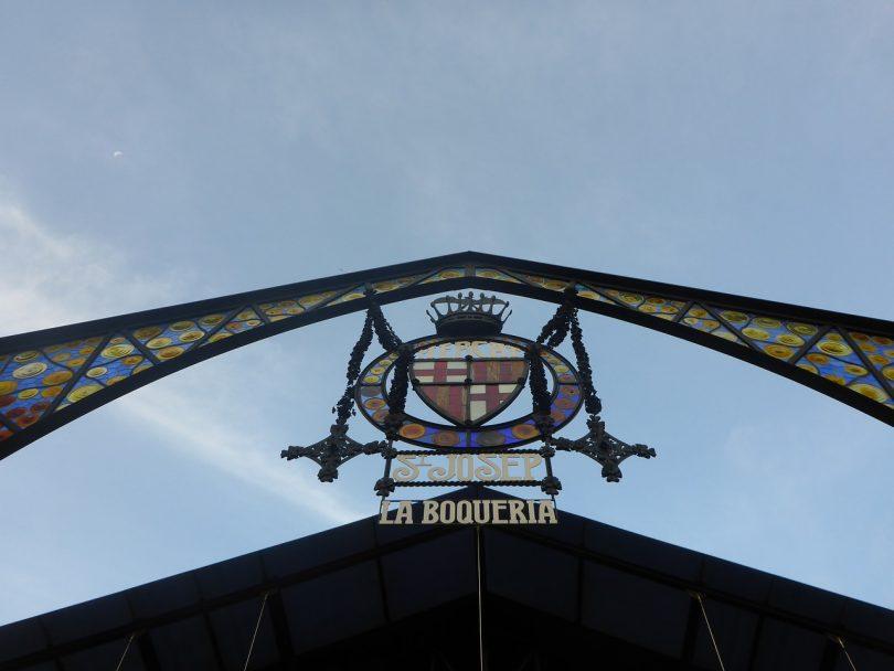 Cartell d'entrada de La Boqueria