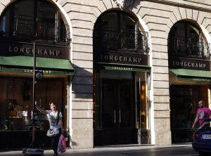 Exterior d'una de les botigues de Longchamp