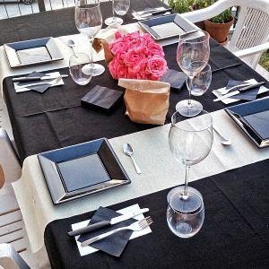 Taula a un restaurant romàntic