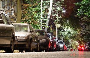 Zona d'estacionament a la ciutat