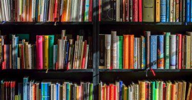 Prestatge a una llibreria