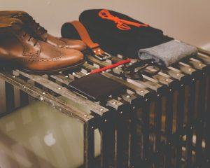 Accessoris de roba exposada a una botiga