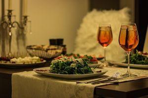 Sopar romàntic a un restaurant