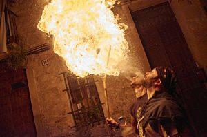 Espectacle de foc a les Festes de Les Corts
