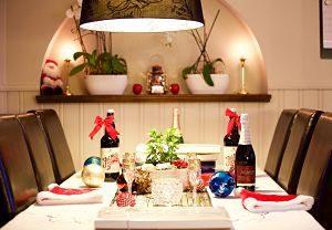 Taula parada preparada pel dinar de Nadal