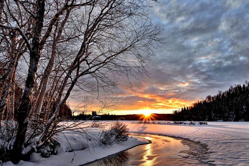 Imatge d'un riu nevat