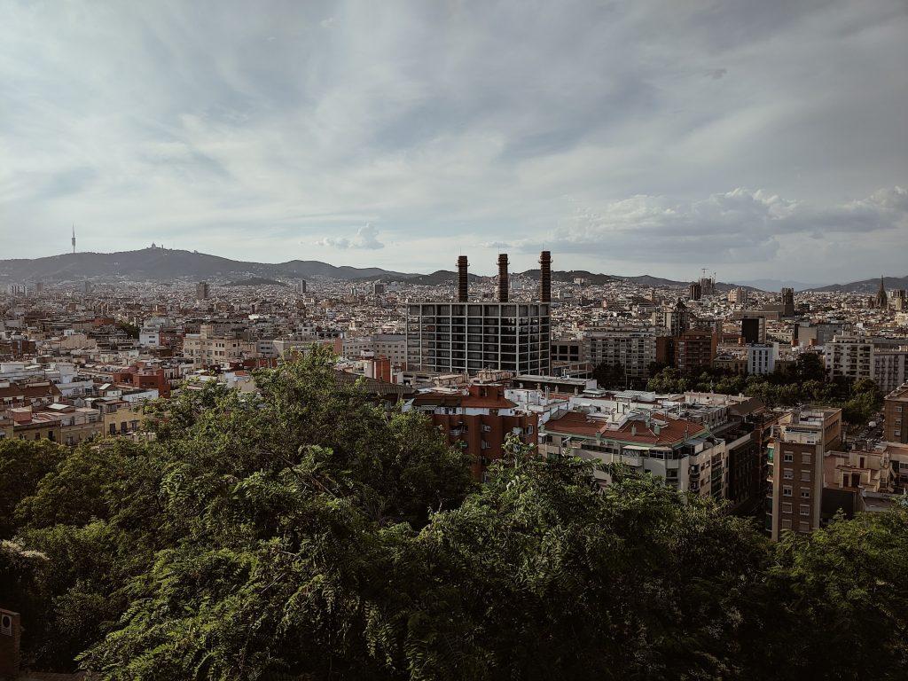 Imatge aèria de Barcelona