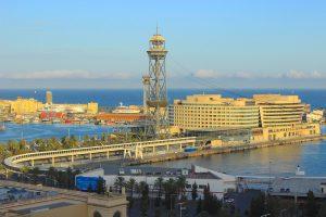 Vista desde el Telefèric de Montjuïc des de d'alt