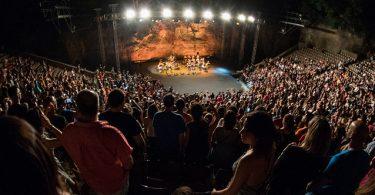 Imatge des de les grades del Teatre Grec de Montjuïc