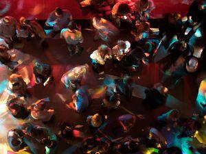 Vista des de dalt d'una discoteca