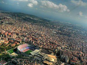 Imatge aèria del barri de Les Corts