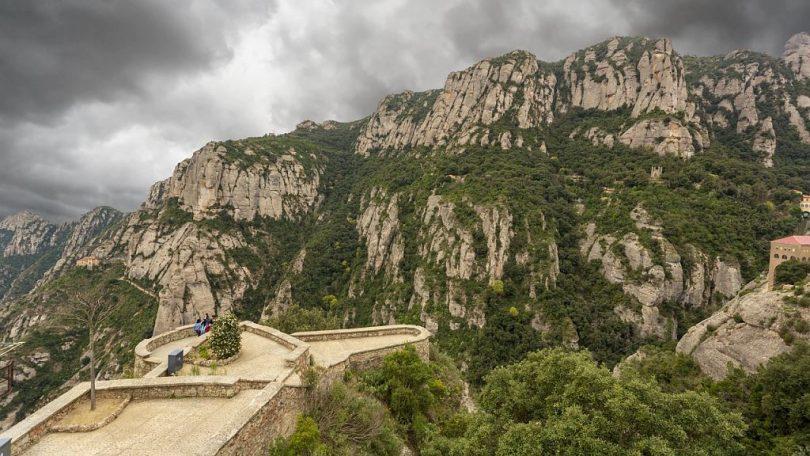 Mirador a la muntanya de Montserrat