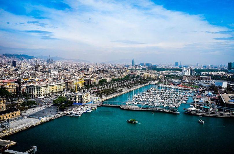 Imatge aèria de Barcelona des del Port Vell