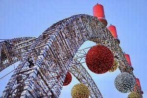 Noria decorada pel Nadal