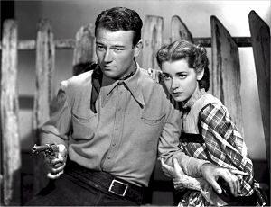 John Wayne interpretant una pel·lícula antiga