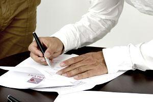 Signatura d'un contracte