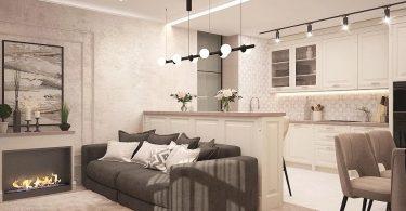 Menjador d'un apartament de luxe
