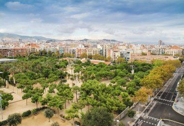 Vista aèria d'un parc a Barcelona