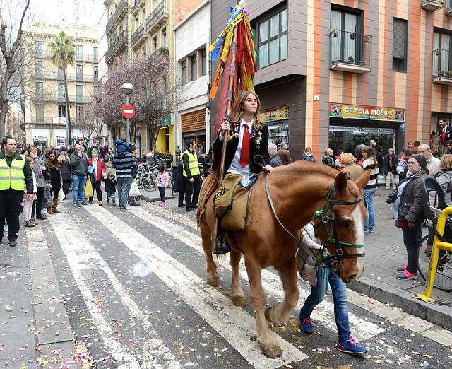 Festa de Sant Medir de romeria pel barri de Gràcia