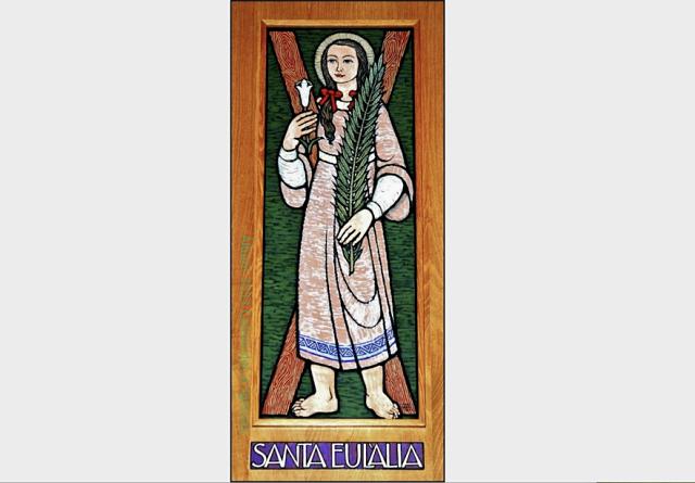 Il·lustració rel·ligiosa de Santa eulàlia