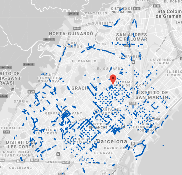 mapa zona blava barcelona